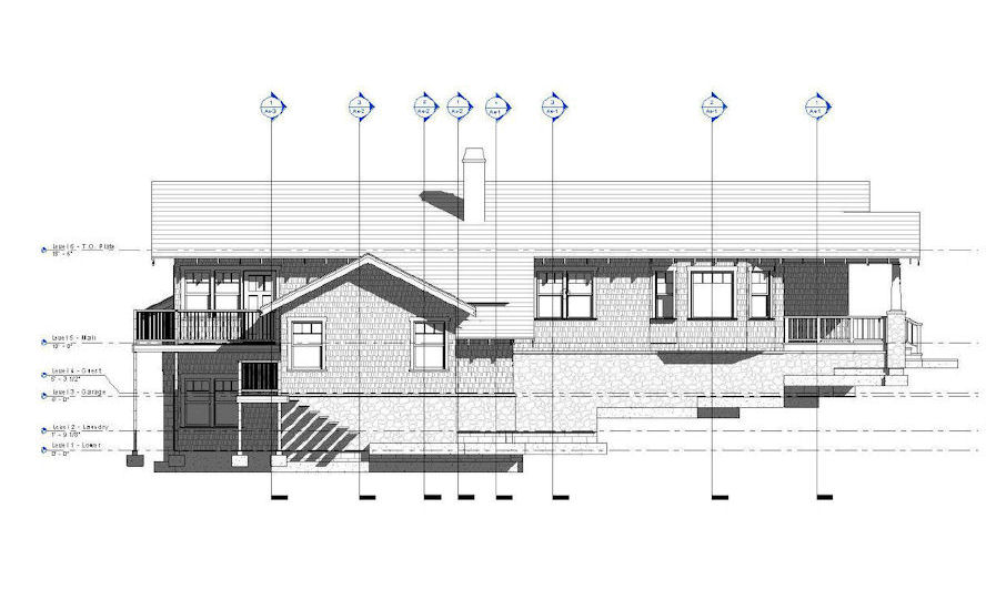Front Elevation Design In Revit : Residences scanlan